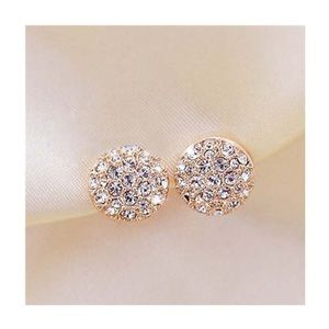 New crystal and gold stud earrings